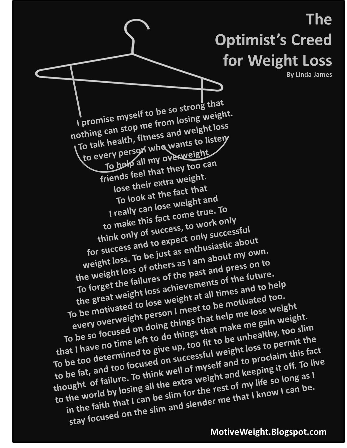 the optimist s creed for weight loss think slimmer